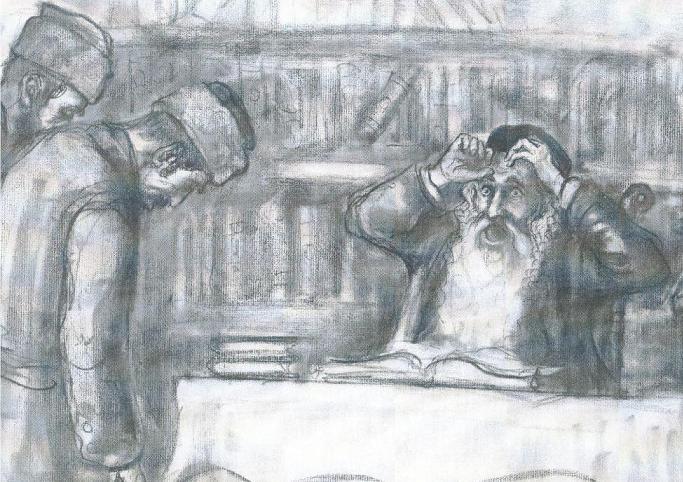 רבנים ציור