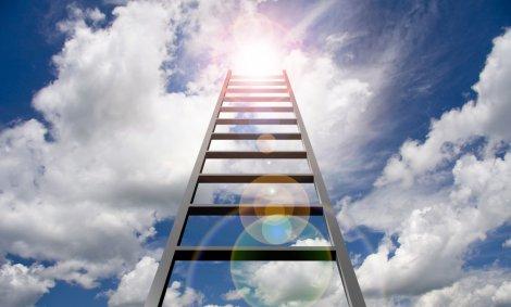 סולם- ראשו מגיע השמימה סולם של תלמידי חכמים צילום- shutterstock