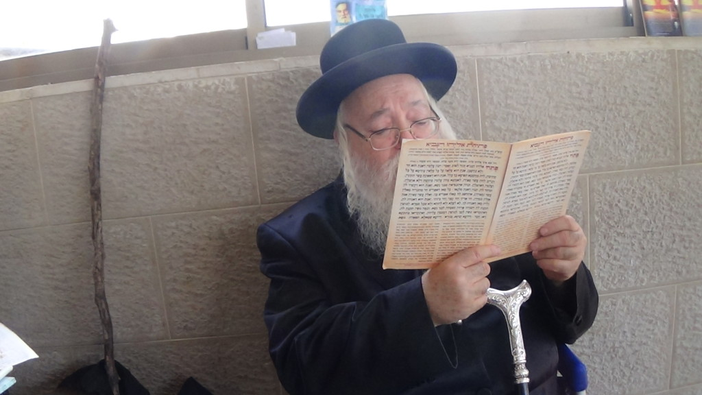האדמור מהאלמין בתפילות במקומות הקדושים בארץ ישראל מחלק ספרי זוהר תהלים סולם הזוהר ועוד (10)