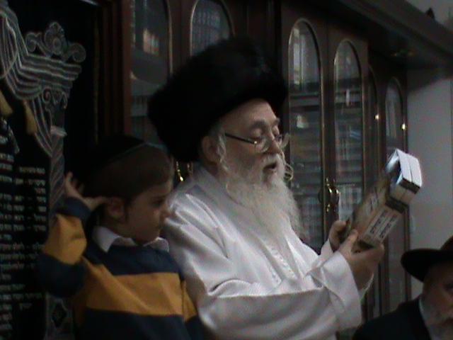 האדמור מהאלמין רבי שלום יהודה גרוס אבות ובנים מוצאי שבת הגדול (14)