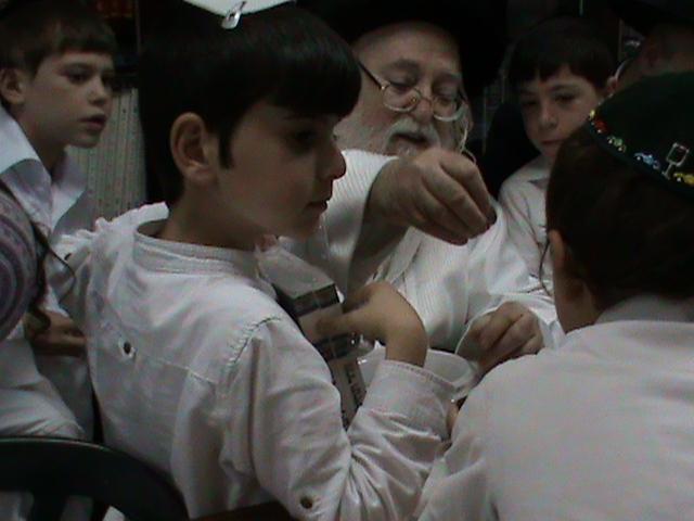 האדמור מהאלמין רבי שלום יהודה גרוס אבות ובנים מוצאי שבת הגדול (27)