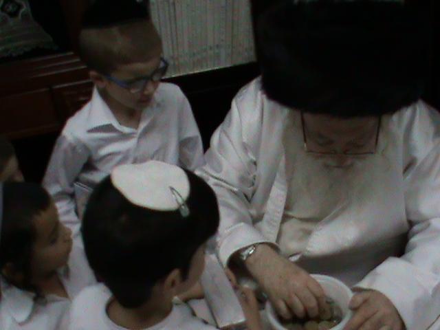 האדמור מהאלמין רבי שלום יהודה גרוס אבות ובנים מוצאי שבת הגדול (32)