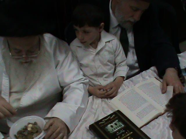האדמור מהאלמין רבי שלום יהודה גרוס אבות ובנים מוצאי שבת הגדול (35)