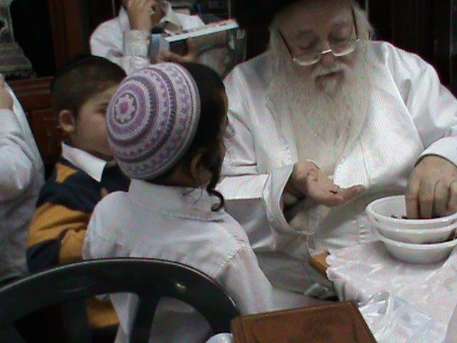 האדמור מהאלמין רבי שלום יהודה גרוס אבות ובנים מוצאי שבת הגדול (45)