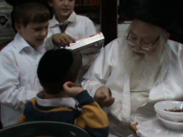 האדמור מהאלמין רבי שלום יהודה גרוס אבות ובנים מוצאי שבת הגדול (49)