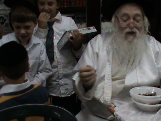האדמור מהאלמין רבי שלום יהודה גרוס אבות ובנים מוצאי שבת הגדול (50)