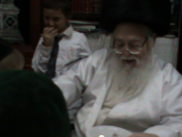 האדמור מהאלמין רבי שלום יהודה גרוס אבות ובנים מוצאי שבת הגדול (51)