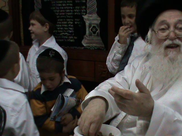 האדמור מהאלמין רבי שלום יהודה גרוס אבות ובנים מוצאי שבת הגדול (52)