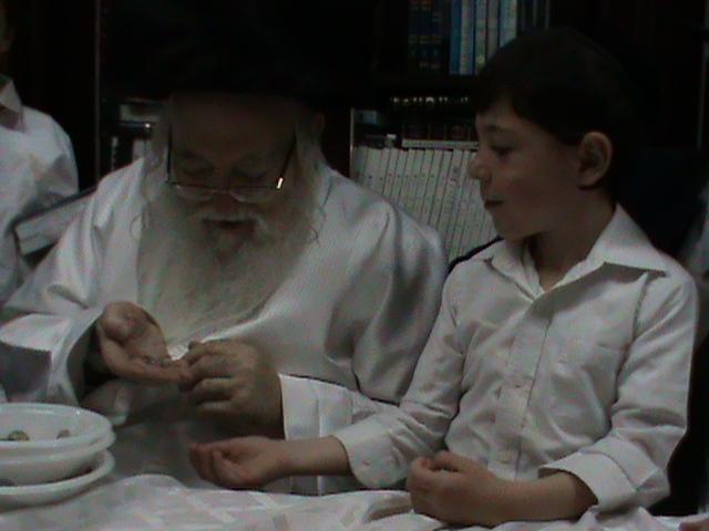 האדמור מהאלמין רבי שלום יהודה גרוס אבות ובנים מוצאי שבת הגדול (53)