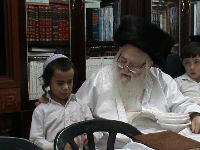 האדמור מהאלמין רבי שלום יהודה גרוס אבות ובנים מוצאי שבת הגדול (66)