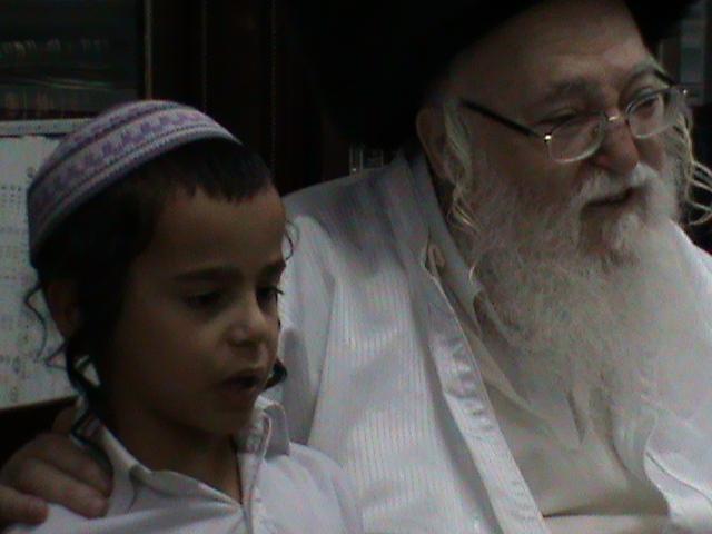 האדמור מהאלמין רבי שלום יהודה גרוס אבות ובנים מוצאי שבת הגדול (68)
