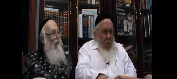 הרב יצחק ראובני עם האדמור מהאלמין