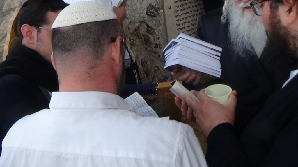 האדמור מהאלמין בתפילות במקומות הקדושים בארץ ישראל מחלק ספרי זוהר תהלים סולם הזוהר ועוד (11)