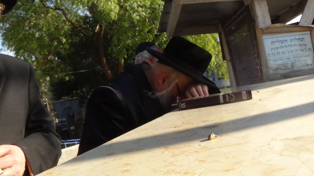 האדמור מהאלמין בתפילות במקומות הקדושים בארץ ישראל מחלק ספרי זוהר תהלים סולם הזוהר ועוד (5)