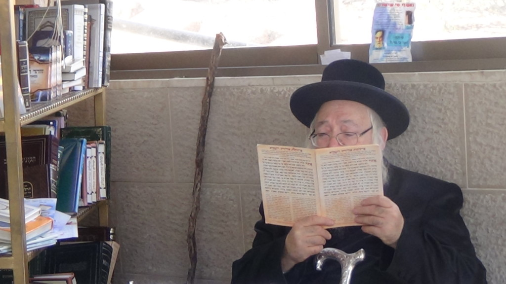 האדמור מהאלמין בתפילות במקומות הקדושים בארץ ישראל מחלק ספרי זוהר תהלים סולם הזוהר ועוד (8)