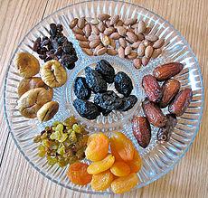 טו בשבט- פירות יבשים- ויקפדיה